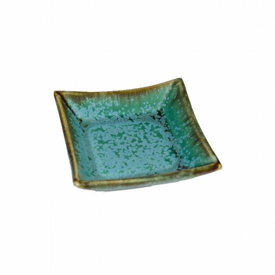 宮本めぐみ トルコ釉 四角小鉢
