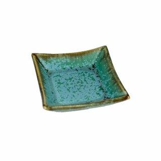 宮本めぐみ|トルコ釉 四角小鉢