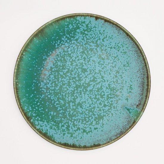 宮本めぐみ|トルコ釉 七寸皿