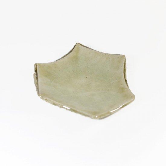 河内啓|六角豆皿 ビードロ釉