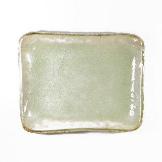 河内啓|角皿(小) ビードロ釉