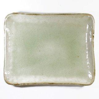 河内啓|角皿(中) ビードロ釉