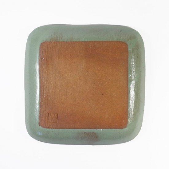 京野桂|角皿 グリーン