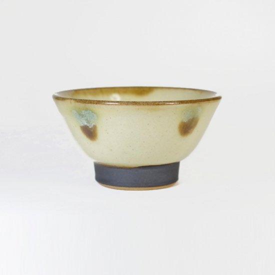 ノモ陶器製作所(野本周)|3.5寸マカイ(お茶碗) 緑釉(オーグスヤー) 【やちむん】