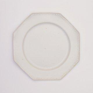 吉田健宗 | 白釉 オクトゴナル皿(小)