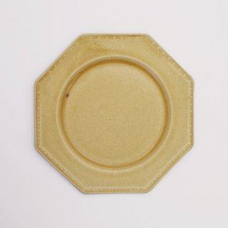 吉田健宗 | 深黄釉 オクトゴナル皿(小)
