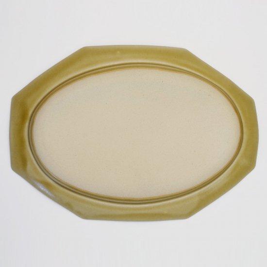 吉田健宗 | 深黄釉  オクトゴナル長皿