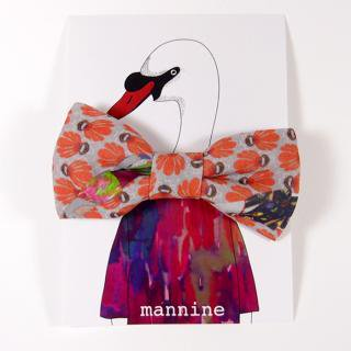 【クリックポストOK】mannine(マンナイン)|ボウタイL botanika garden orange