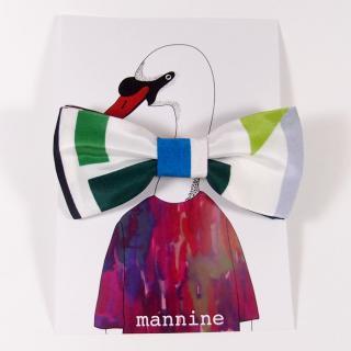 【クリックポストOK】mannine(マンナイン)|ボウタイL geometric anni