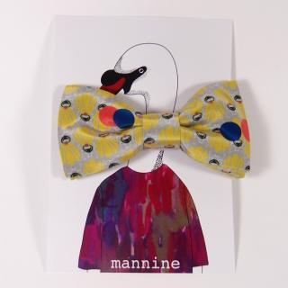 【クリックポストOK】mannine(マンナイン)|ボウタイL botanika garden yellow