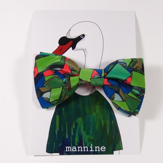 【クリックポストOK】mannine(マンナイン) ボウタイL mess pink