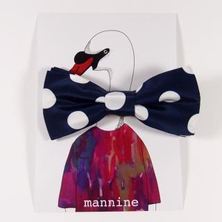 【クリックポストOK】mannine(マンナイン)|ボウタイL dots