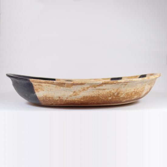 sunny-craft(サニークラフト)|カレー皿大 きせと釉 ラインドット