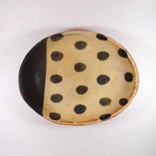 sunny-craft(サニークラフト)|カレー皿中 きせと釉 ラインドット