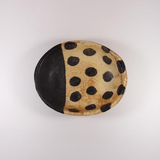sunny-craft(サニークラフト)|カレー皿小 きせと釉 ラインドット