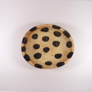 sunny-craft(サニークラフト)|カレー皿小 きせと釉 ドット