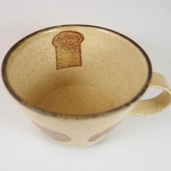 かとうようこ|コーヒーカップ パン(イエロー)