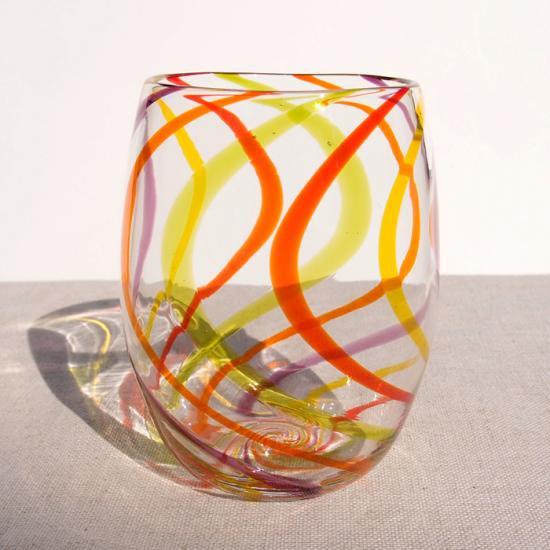 ガラス工房Merhaba(メルハバ)|グラスNo.3 Wave