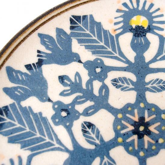 諏佐知子|5寸皿 鳥と草