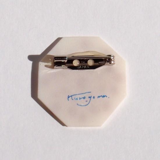 【クリックポストOK】kurogoma.(くろごま)|北欧柄ブローチ(brooch)【b01】