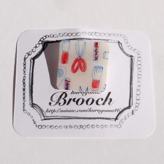【クリックポストOK】kurogoma.(くろごま)|北欧柄ブローチ(brooch)【b02】