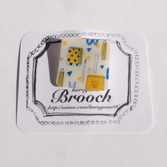 【クリックポストOK】kurogoma.(くろごま)|北欧柄ブローチ(brooch)【b04】