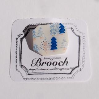【クリックポストOK】kurogoma.(くろごま)|北欧柄ブローチ(brooch)【b09】