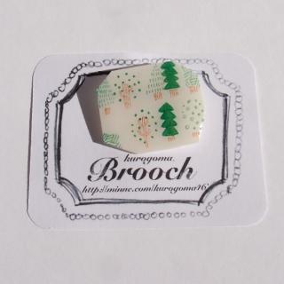 【クリックポストOK】kurogoma.(くろごま)|北欧柄ブローチ(brooch)【b10】