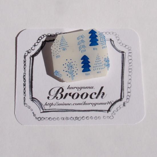 【クリックポストOK】kurogoma.(くろごま)|北欧柄ブローチ(brooch)【b11】