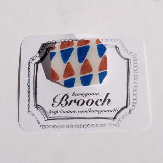【クリックポストOK】kurogoma.(くろごま)|北欧柄ブローチ(brooch)【b12】