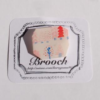 【クリックポストOK】kurogoma.(くろごま)|北欧柄ブローチ(brooch)【b13】