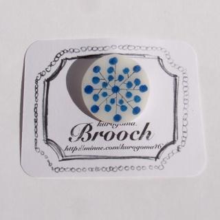 【クリックポストOK】kurogoma.(くろごま)|北欧柄ブローチ(brooch)【b14】
