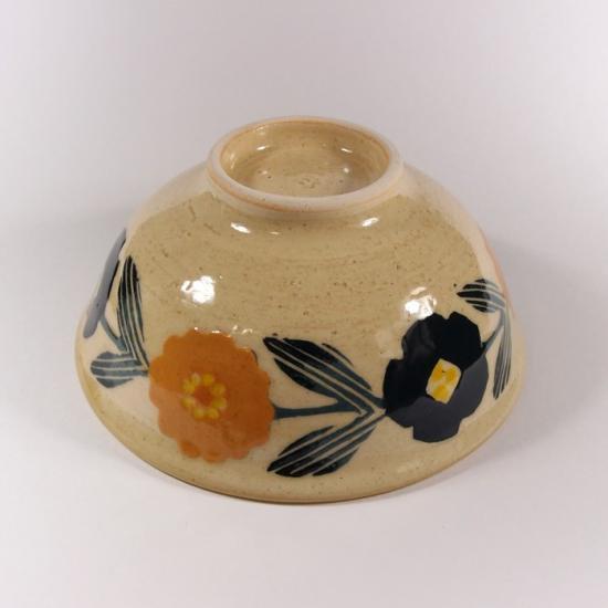 諏佐知子|飯椀(お茶碗) 花模様
