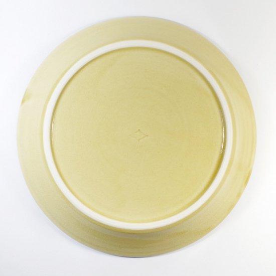 諏佐知子|7寸皿(浅鉢) 青花草