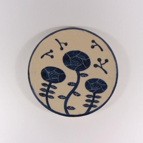 大内瑤子(おおうちようこ)|まめ絵皿-野の花