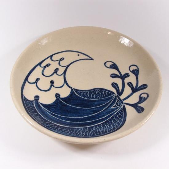大内瑤子(おおうちようこ)|鳥のもようの5寸皿