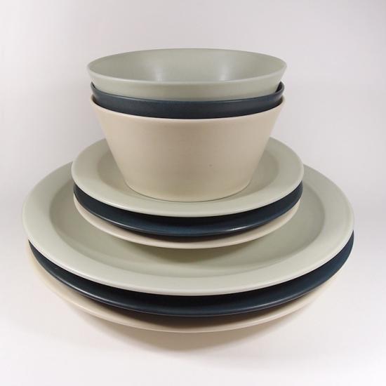 KANEAKI SAKAI POTTERY|flat bowl(コバルト)