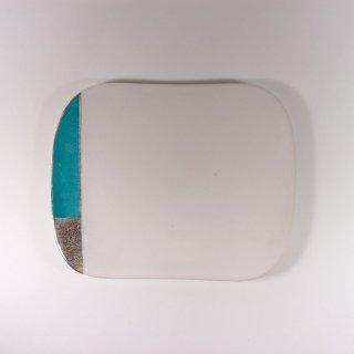 徳田 吉美|漆蒔中皿 ブルー