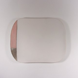 徳田 吉美|漆蒔中皿 ピンク