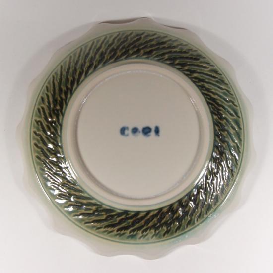 Pottery studio COEI|輪花5寸皿B