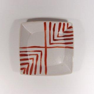 Pottery studio COEI|赤絵四角皿