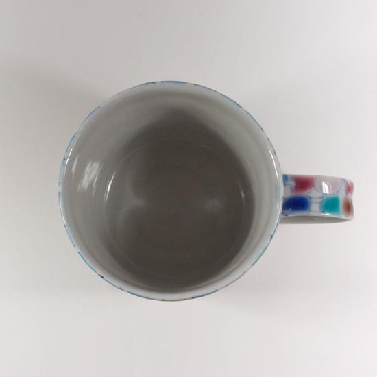 北尾正治・マキ|トピ柄 マグカップ (紺)