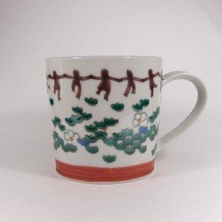 北尾正治・マキ|草柄 マグカップ