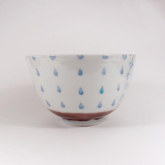北尾正治・マキ|トピ柄お茶碗  小(紫)A
