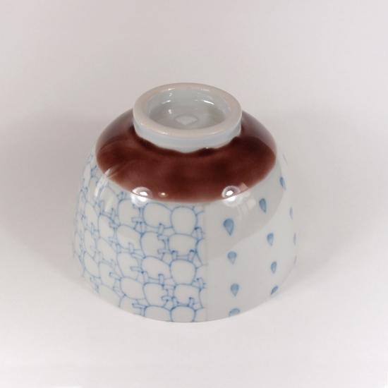 北尾正治・マキ|トピ柄お茶碗  小(紫)B