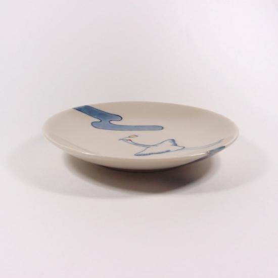 中川ひかり|3寸皿 雲と鶴 【14】