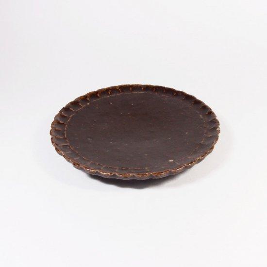 伊藤豊|花小皿(茶)【美濃焼】
