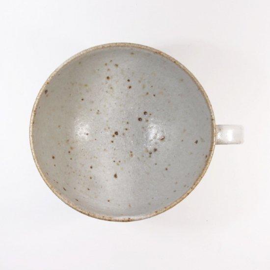 伊藤豊|花紋 スープカップ(粉引)【美濃焼】