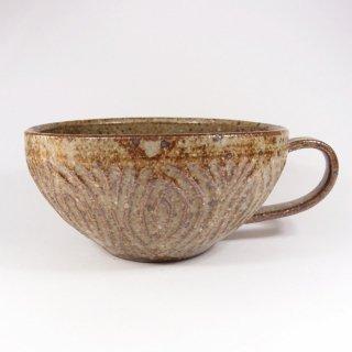 伊藤豊|花紋 スープカップ(もえぎ)【美濃焼】