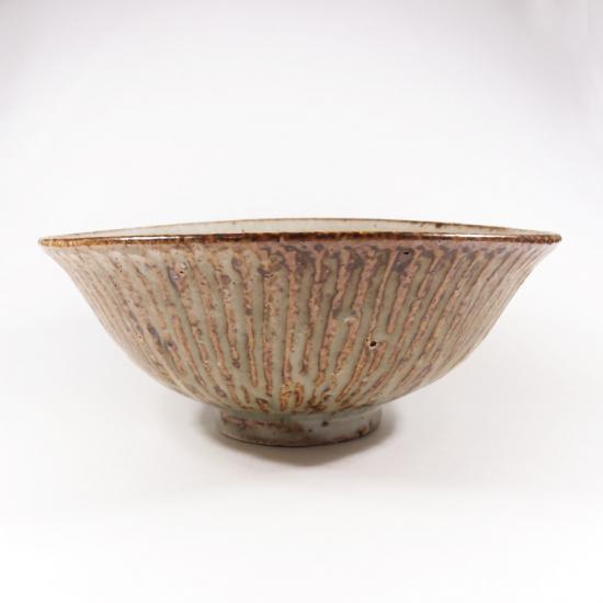 伊藤豊|粉引き シノギ丼ぶり【美濃焼】